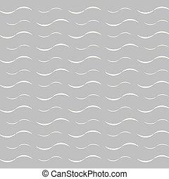 blanc, gris, fond, vagues