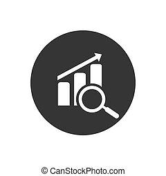 blanc gris, moderne, plat, vecteur, style, icône, diagramme