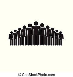 blanc, groupe, gens arrière-plan