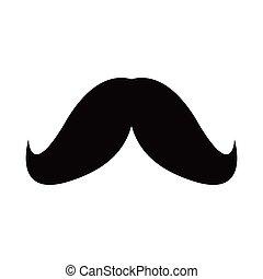 blanc, hipster, moustache, fond