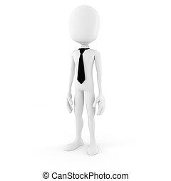 blanc, homme, fond, business, 3d