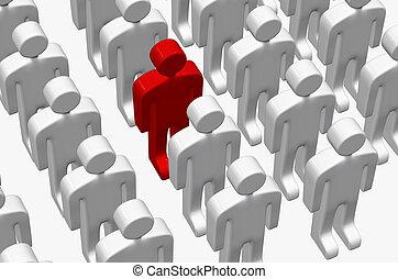 blanc, hommes, -, rouges, 3d