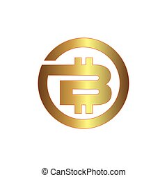 blanc, icône, bitcoin, fond, circle.