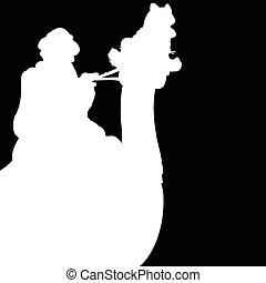 blanc, illustration, chameau