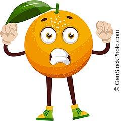 blanc, illustration, orange, désordre, vecteur, arrière-plan.