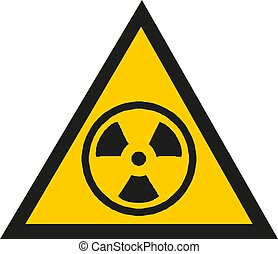 blanc, illustration, vecteur, signe, avertissement, fond, isolé, radiation