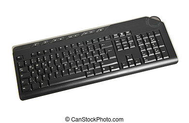 blanc, informatique, isolé, clavier