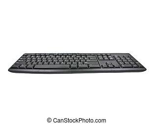 blanc, informatique, isolé, fond, clavier