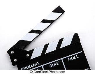 blanc, inscriptions, film, noir, battant, table