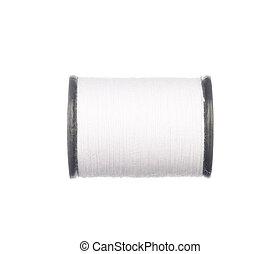 blanc, isolé, fil