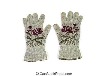 blanc, isolé, fond, gant