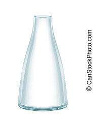 blanc, isolé, fond, vase