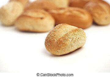 blanc, isolé, pain