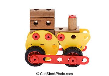 blanc, jouet, locomotive