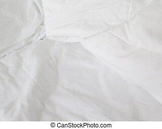 blanc, lit