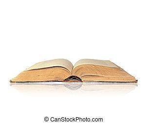 blanc, livre, ouvert