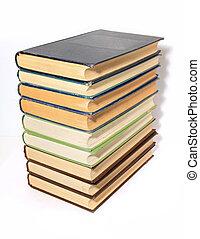 blanc, livres, vieux, fond