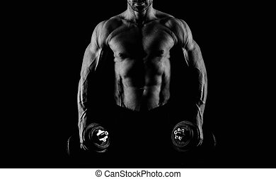 blanc mâle, noir, abs, fort