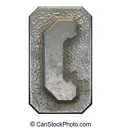 blanc, métal, 3d, gauche, parenthèses, symbole, fond,...
