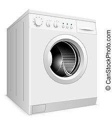 lavage isol illustration machine r aliste vecteur fond nouveau blanc. Black Bedroom Furniture Sets. Home Design Ideas
