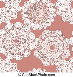 blanc, maille, pattern., dentelle, seamless