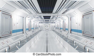 blanc, mask., en mouvement, intérieur, alpha, 3840x2160, porte, futuriste, gateway., 3d, résumé, animation, tunnel, vaisseau spatial, light., ouverture, par, 4k, ultra, hd, beau