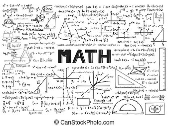blanc, math, fond
