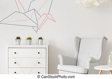 blanc, minimaliste, intérieur