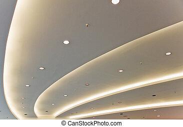 blanc, moderne, plafond