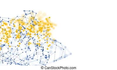 blanc, moléculaire, structures, fond