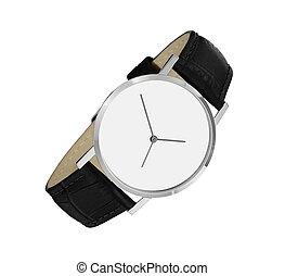 blanc, montre, isolé