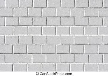blanc, mur peint brique