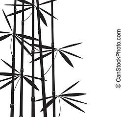 blanc, noir, bambou