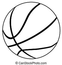blanc, noir, basket-ball