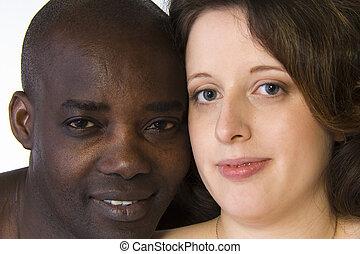 blanc, noir couple