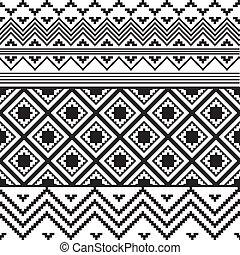 blanc, noir, texture, ethnique