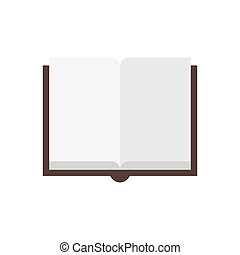 blanc, ouvert, book., illustration