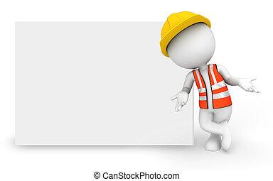 blanc, ouvrier, gens fonctionnement