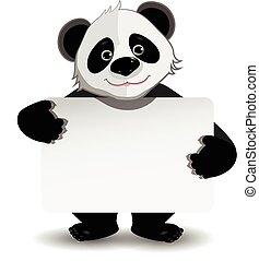 blanc, panda, fond