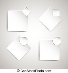 blanc, papier, bannière, gabarit