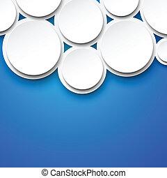 blanc, papier, bulles, blue.