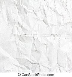 blanc, papier, chiffonné, texture
