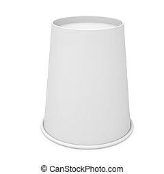 blanc, papier, inversé, tasse