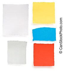 blanc, papier, morceau
