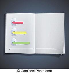 blanc, papier, oeuf, trois, coloré
