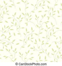 blanc, papier peint, remplit, seamless, modèle, vecteur, textures., ideall, toile, textile, vert, arrière-plan., 10, pousses, papier, feuilles, emballage, page, eps, tissu, décoratif