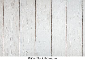 blanc, peint, bois, desk., texture, ou, fond