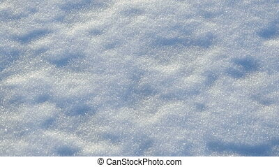 blanc, pelucheux, neige