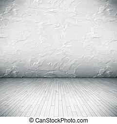 blanc, plancher