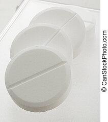 blanc, poignée, pilules